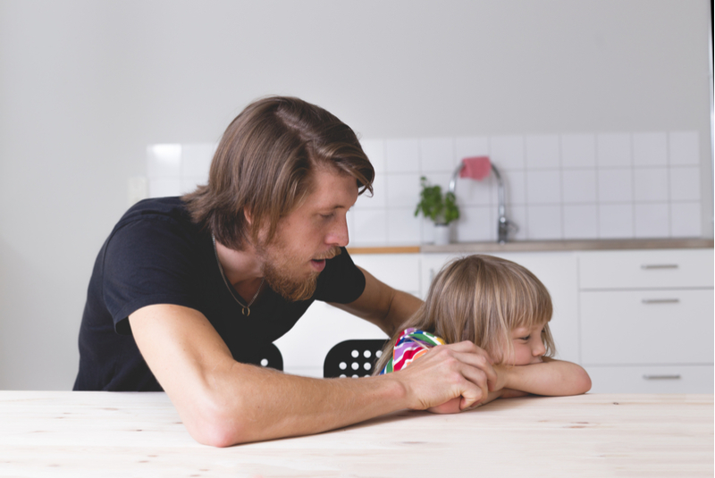 Dealing with a toddler tantrum